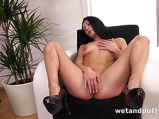 Kara kane sex Sex toys-raven haired kara fucks a monster sized black dildo
