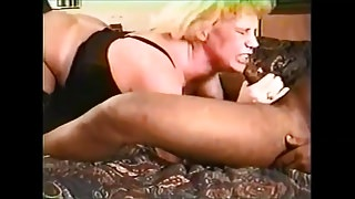 Amateur big tits blonde with stockings