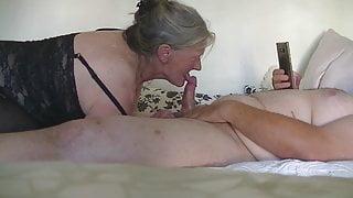 Danish Granni gives me a wonderful blow
