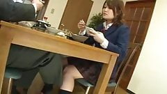 Taking lunch with a schoolgirl