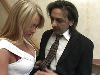 Ashley lowe lingerie - Blonde paige ashley with perfect body seduces long haired dude on the stair