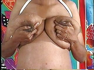 Huge hanging breasts Huge milky areolas on huge hanging tits 2