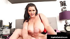 Huge BOObed BBW Angelina Castro Performs Beautiful Blowjob!