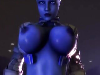 How to draw cartoon boobs - Liara knows how to ride