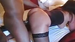 Husband watches  his wife fucked hard by bull