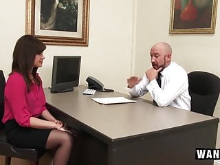 Office stocking porn videos Cute office assistant fucks her boss for a promotion