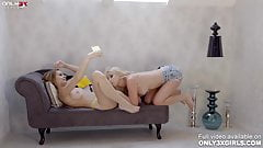 Horny Amaris and Skiley Jam fingering and licking each other