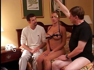 Milf two guys and girl - Girl rubbing clit before fucking two guys