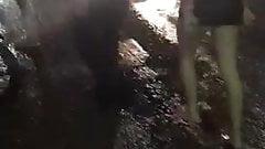 Drunk topless bitch fight