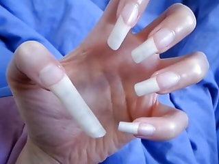 Sexy fuckedup handjob thumbs - Long thumb nail