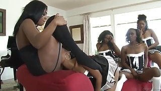 Lesbian ebony maids fuck Layton Benton