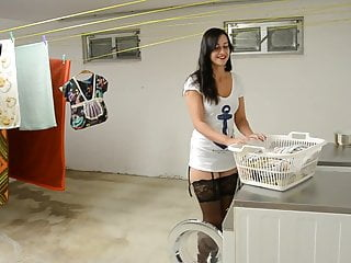 Couple laundry room sex Big cumshot in the laundry room - german