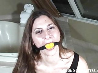 Thick yellow lumps in sperm Angel corte bound tight with thick yellow ropes