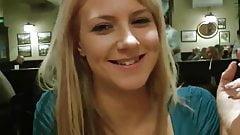 Blonde enjoys public fuck