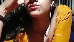 Indian teen girl on imo video call