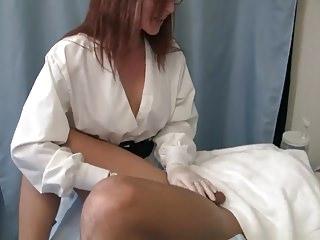 Free porn video nurse glove Nurse milks patients prostate with gloves and dildo