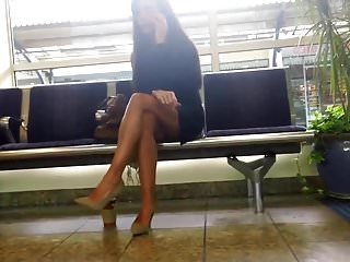 High resolution black and white nudes Nude heels black dress