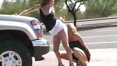 lesbians sluts in public