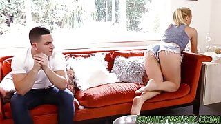 Horny babe Natalia Starr gets down and dirty with stepbro