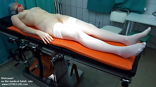 The examination of a mature woman in doctor's office