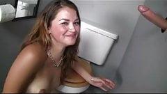 Gloryhole Bathroom with 5 girls getting it done