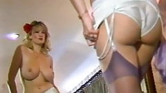 Vintage 80's big natural bouncy tits, dance striptease