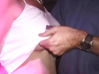 Watch guys and gals fuck Two guys and gal work on big tit milf-she cums screaming