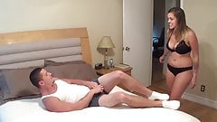Katie Cummings - catches her perverted brother