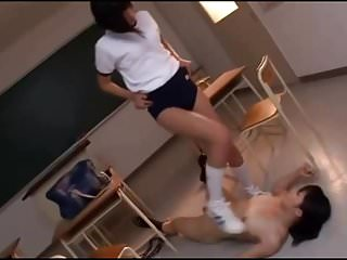 Faced asian Asian schoolgirl rides and squirts on teacher face