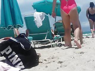 Bikini miami Candid a few nice asses on miami beach. slo-mo