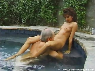 Nude trampolin Outdoor threesome on the trampoline