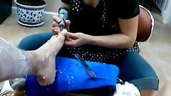 pedicure dick flash soft cum,