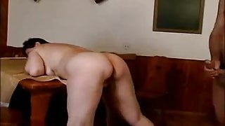 Crazy old step mom gets big cock in pussy and oral deep