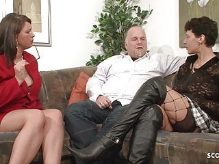 Couples sex help Milf neigbour help old couple for good sex and join german