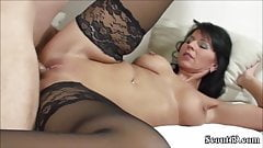 German MILF in Stockings Fucks with Big Dick