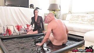 Brunette MILF Sofie Marie Gives Handjob And Nuru Massage