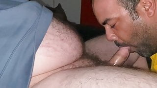 Poppered up str8 bear throbs 5 day load into my mouth
