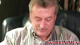 Older hairy man does solo interview and masturbates on cam