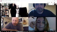 Girl with big tits forgets work video conference cam is still on