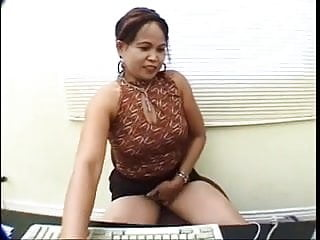 Sexy mailman Asian secretary lesbian caught by the mailman