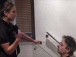 Gay master shoes slave Slapped with her shoes