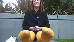 smelly yellow nylons
