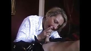 Hot milf is doing a young guy while hubby recording