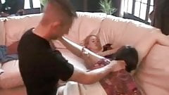 Amateur mom and not her daughter fucks the same guy