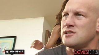Thirsty For Dicks, Jessy Dubai Gets The Gangbang She Needs
