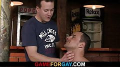 Big-cocked gay seduces him right in the bar