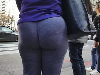 Open bottom grey fleece sweatpants Ebony gilf in sweatpants teasing