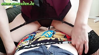 Shy girl tries her first lingerie