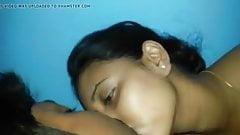 girl grinding pillow