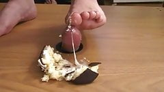 real man gets a footjob on a cupcake... loser pays to eat it